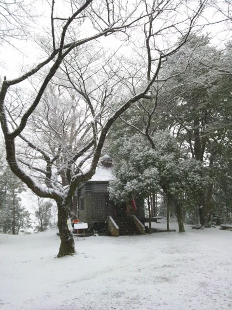 今日は、こちらに!雪の弘法山!